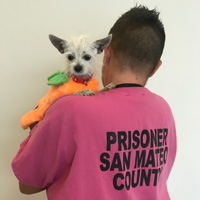 Inmate with dog